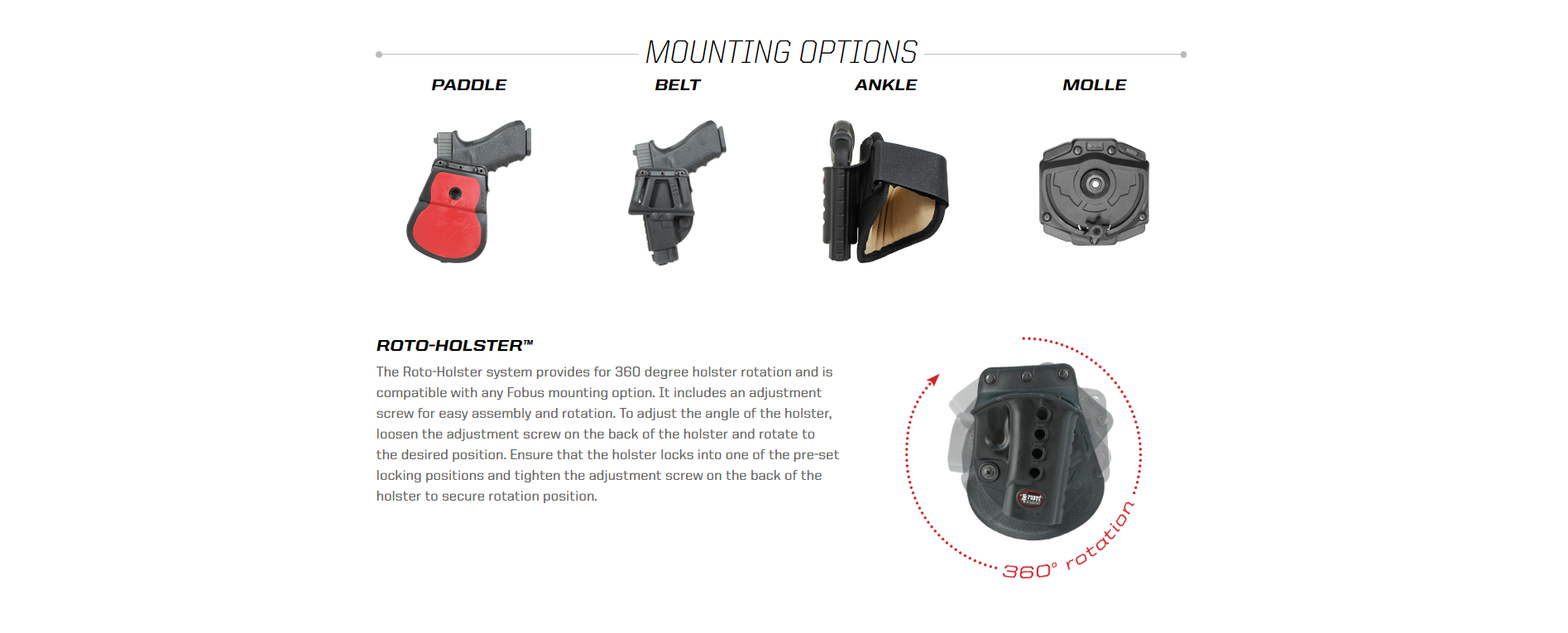 FOBUS MOUNTING OPTIONS