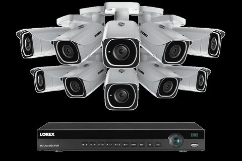4K Ultra HD IP NVR System with 10 Outdoor 4K 8MP IP Cameras