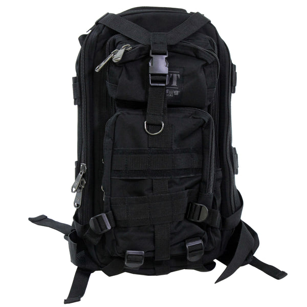 Bulldog Cases Compact BackPack, Black - Forethought Survival Essentials