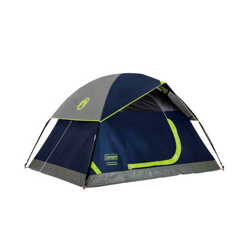Coleman Sundome Tent 3 Person, 7' x 7', Navy/Gray