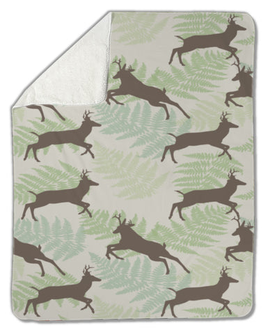 Blanket, Deer with fern