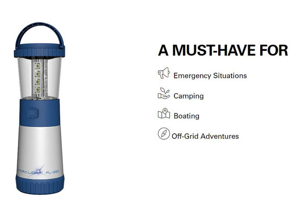 Hydra Light Personal Lantern Water Only, Blue - Forethought Survival Essentials