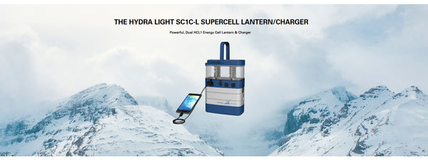 Hydra Light SuperCell Lantern Hydra, Blue - Forethought Survival Essentials