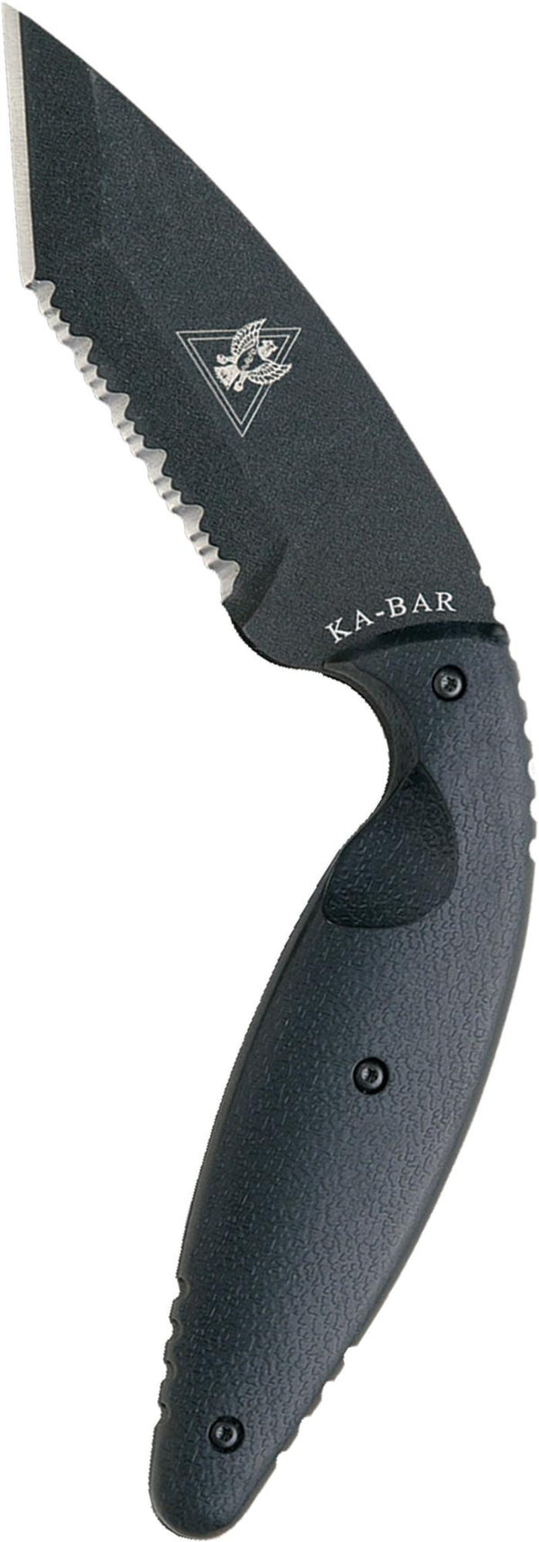 KA-BAR Large TDI Law Enforcement Knife, Black, Molle Straps Tanto, Serrated Edge - Forethought Survival Essentials
