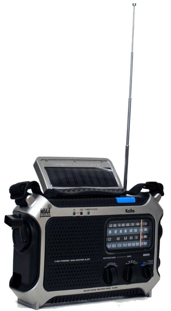 KA550 Self-Powered AM/FM ShortWave, NOAA Radio - Forethought Survival Essentials