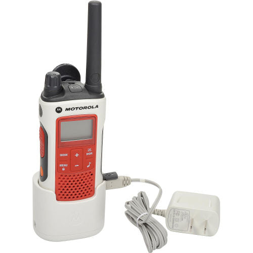 Motorola Talkabout® T480 Emergency Preparedness Two-Way Radio, White/Red - Forethought Survival Essentials