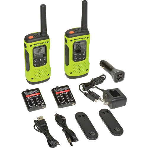 Motorola Talkabout® T605 Waterproof Rechargeable Two-Way Radios - 2 Pack- RANGE Up To 35 Miles - Forethought Survival Essentials
