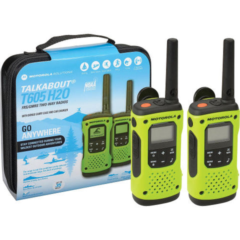 Motorola Talkabout® T605 Rechargeable Two-Way Radios - 2 Pack- RANGE Up To 35 Miles
