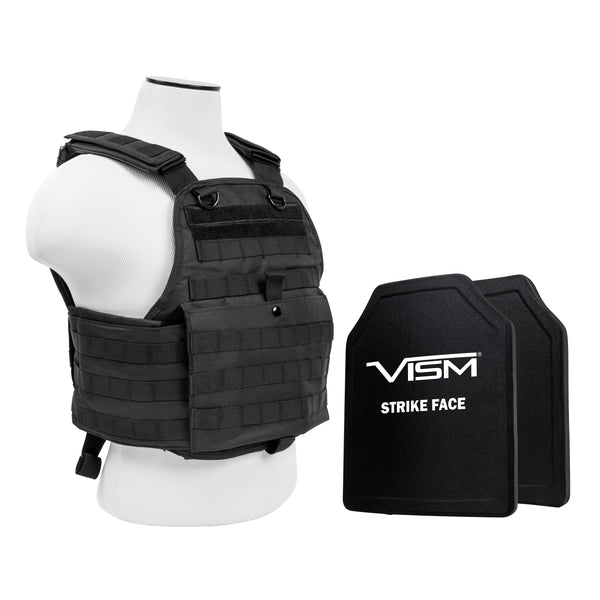 "NcStar Plate Carrier Vest with 10"" x 12"" PE Hard Plates"