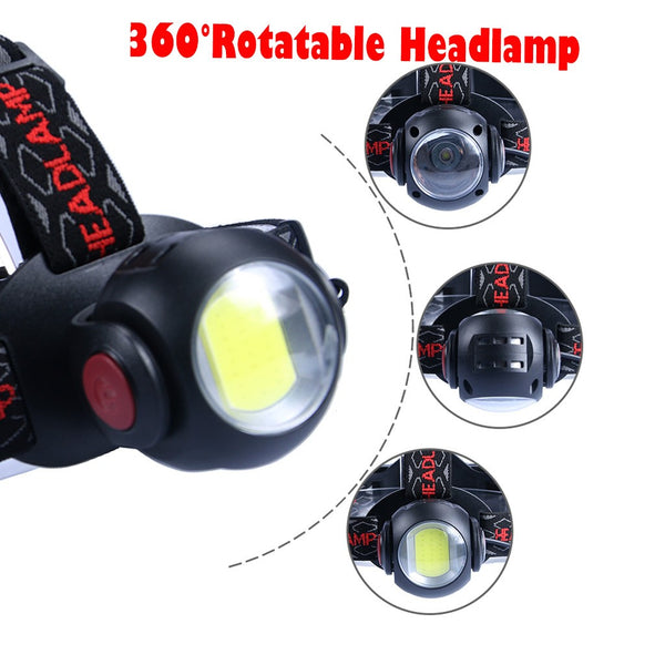 Rechargeable COB+LED Headlamp - Forethought Survival Essentials