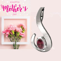 FANY Garnet Gemstone Excellent Cut 0.925 Argentium Silver Pendant Women Mother's Day Gift - Sale