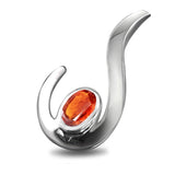 FANY Jewelry Garnet Gemstone Excellent Cut 0.925 Argentium Silver Pendant Women's Best Gift