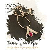 FANY July Birthstone Red Ruby Elegant Peace Necklace Pendant Gemstone 0.39 Ct Argentium Silver Mother's Day Gift