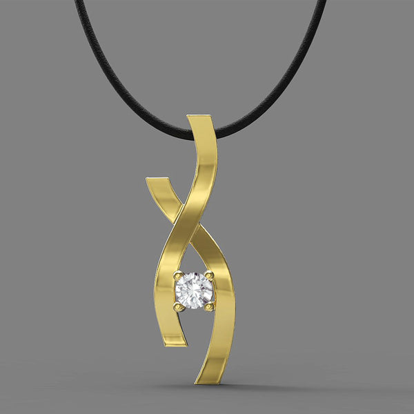FANY Jewelry April Birthstone Women's White Topaz Gold Plated Argentium Silver Infinity Pendant With 0.39 Ct Special Gift
