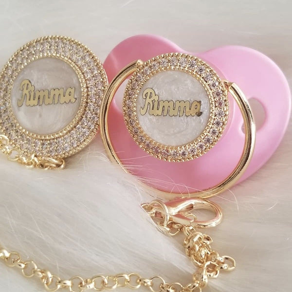 LUXURY BABY NAME PACIFIER
