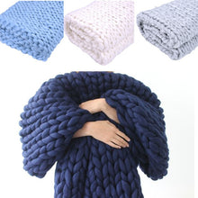 Load image into Gallery viewer, Chunky Handmade Knitted Blanket