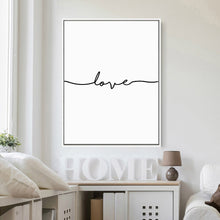 "Load image into Gallery viewer, Signed With ""Love"" Canvas Print"