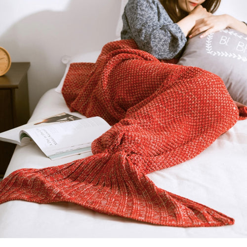 Cosy Handmade Mermaid Blanket