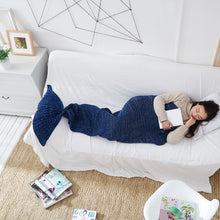 Load image into Gallery viewer, Cosy Handmade Mermaid Blanket