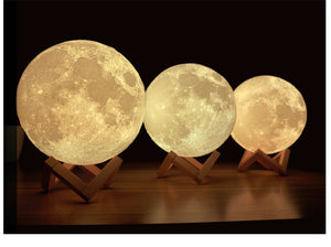 Remote Controlled LED Moon Lamp