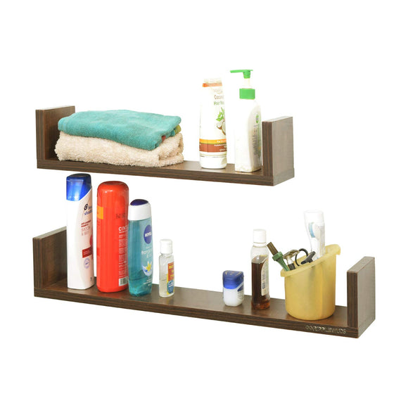 Ripplewuds Multi-Purpose August Bathroom Shelf - Wall Mount - Pack of 2