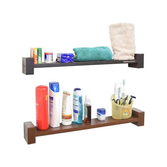 Ripplewuds Multi-Purpose Lofty Bathroom Shelf - Wall Mount - Pack of 2
