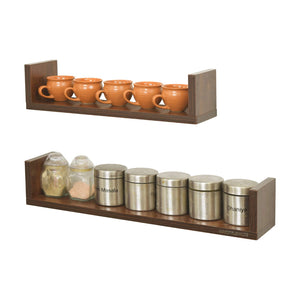 Ripplewuds Kitchen August Wall Shelves - Pack of 2 - Containers Crockery Kitchen Rack - Wall Mount