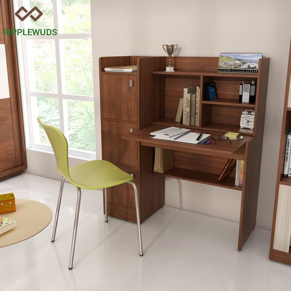 Ripplewuds Felix Study Table Desk For Home & Office Walnut Tables