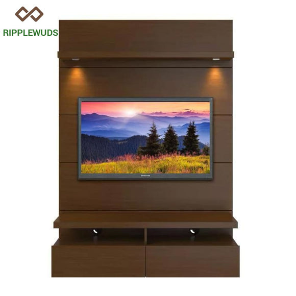 Ripplewuds Manhattan Comfort Wall Theatre Panel Walnut Tv Unit