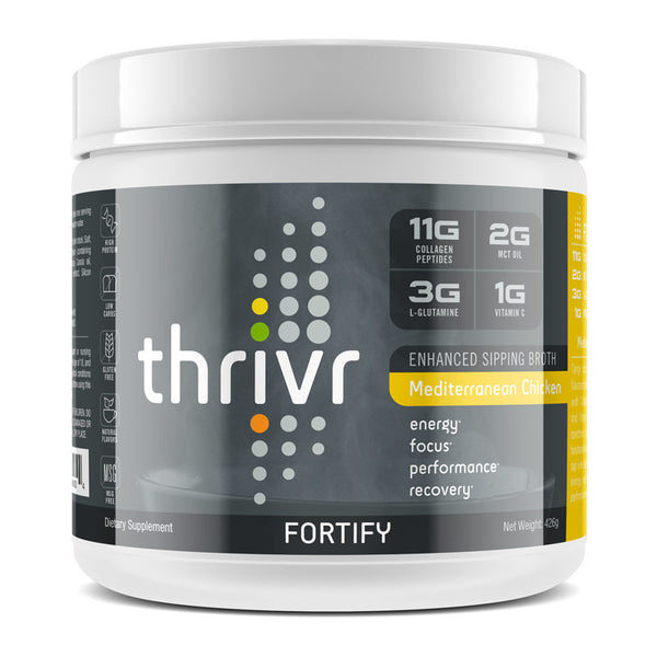 Thrivr - Fortify Mediterranean Savory Chicken and Herb Enhanced Sipping Broth