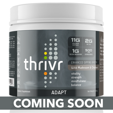 Thrivr Adapt - Wild Mushroom and Chicken Enhanced Sipping Broth
