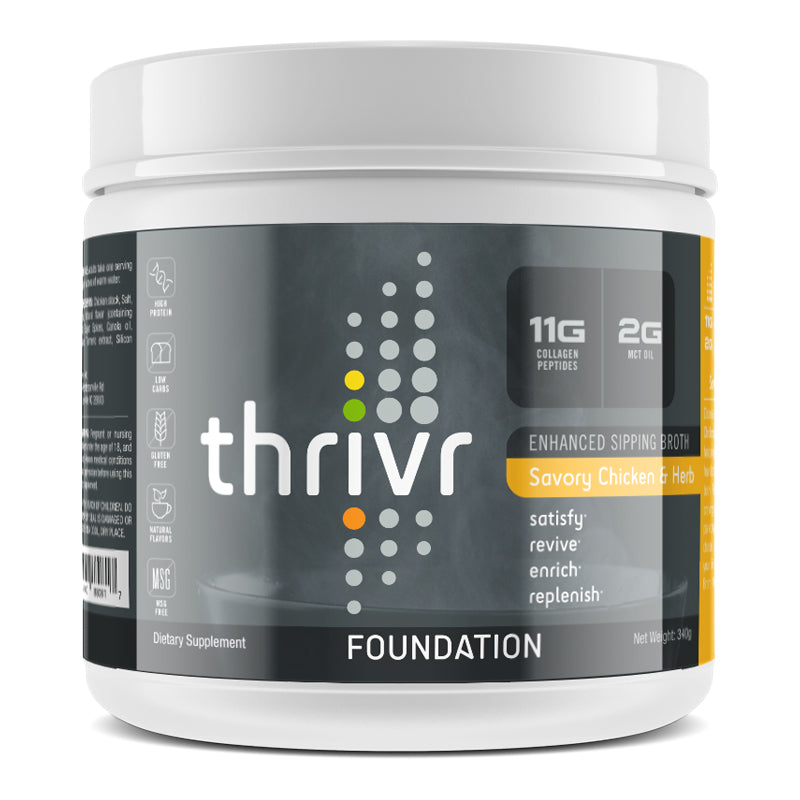 Thrivr - Foundation Savory Chicken and Herb Enhanced Sipping Broth