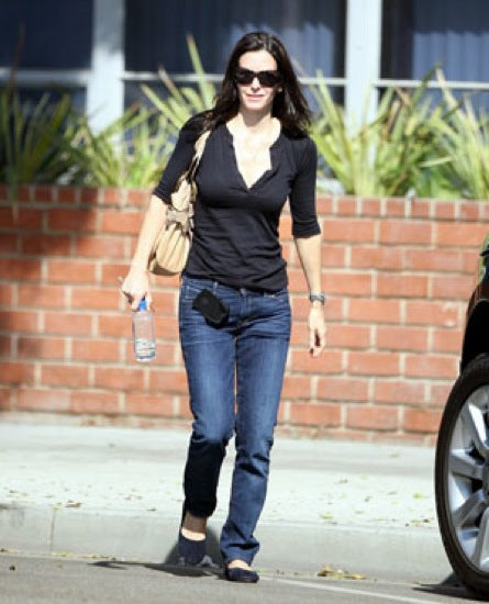 Courtney Cox wearing Kasil Denim Straight Leg Jeans