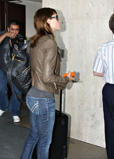 Jessica Biel wearing William Rast Skinny Denim Jeans