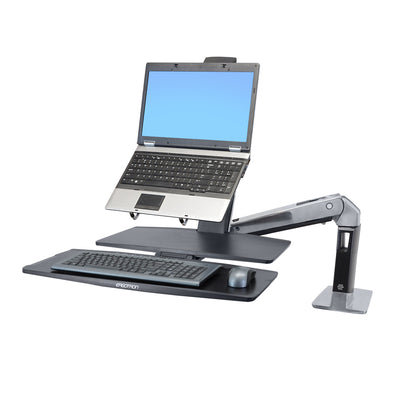 Ergotron WorkFit-A Single LD Workstation with Worksurface 24-317-026
