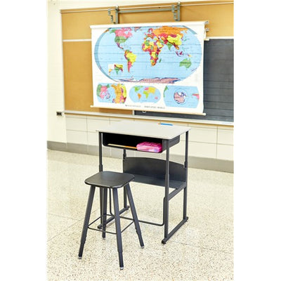Safco AlphaBetter® Adjustable-Height Student Stool with Thermoplastic Seat and Tip-Resistant Base