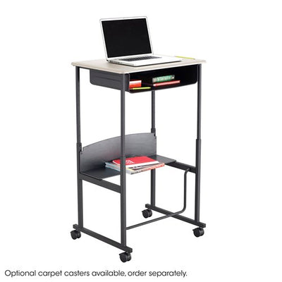 "Safco AlphaBetter® Adjustable-Height Stand-Up Desk, 28 x 20"" Standard Top, Book Box and Swinging Footrest Bar"