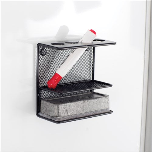 Safco Onyx™ Mesh Marker Holder with Shelf