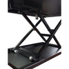 "32"" Pneumatic Stand up Desk Single Level Coverter"