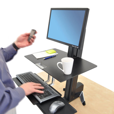 Ergotron WorkFit-S Single LD Workstation with Worksurface