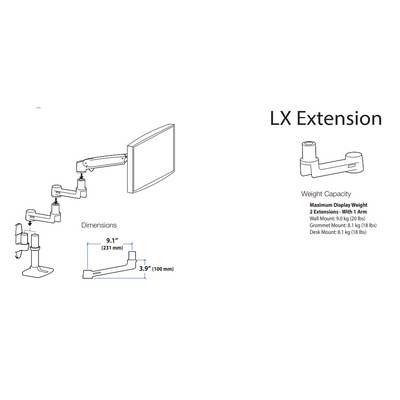 Ergotron LX Extension