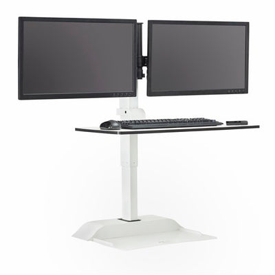 Safco Soar™ Electric Desktop Sit/Stand – Dual Monitor Arm