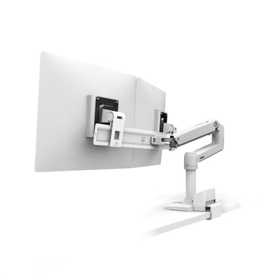 Ergotron LX Desk Dual Direct Arm - with Top Mount C-Clamp (white)