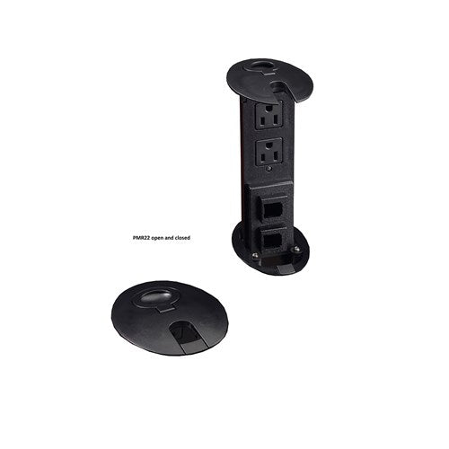 "Safco Power Module Tower, 2 Power, 2 Data Outlets, 3"" W"