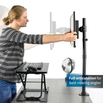 Vivo Single Monitor Extra Tall Desk Mount STAND-V001T