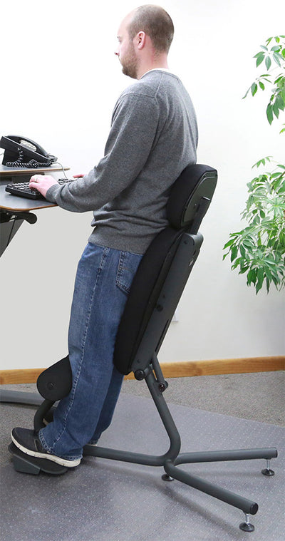 "Health Postures 5050 Stance Move Sit-Stand Chair with Chair Extension for Tall People 5'10"" and above"