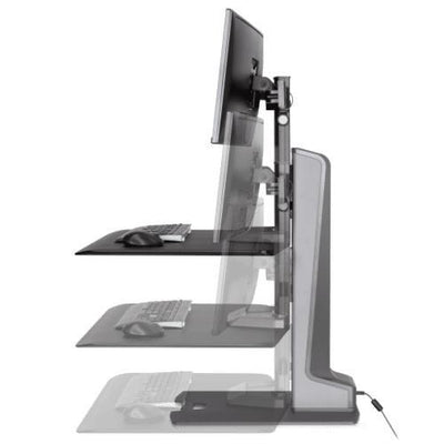 Innovative Winston-E® Electric Sit-Stand Workstation Dual Monitor Mount