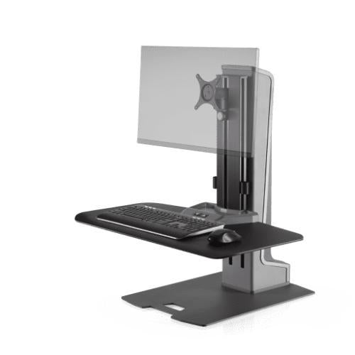 Innovative Winston-E® Sit-Stand Workstation Single Monitor Mount with Compact Work Surface
