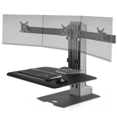 Innovative Winston-E® Sit-Stand Workstation Triple Monitor Mount