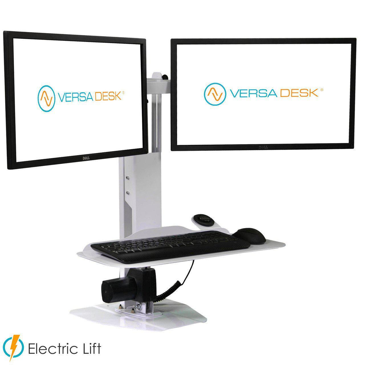 VersaDesk Micro Power Dual Screen Electric Standing Desk Riser